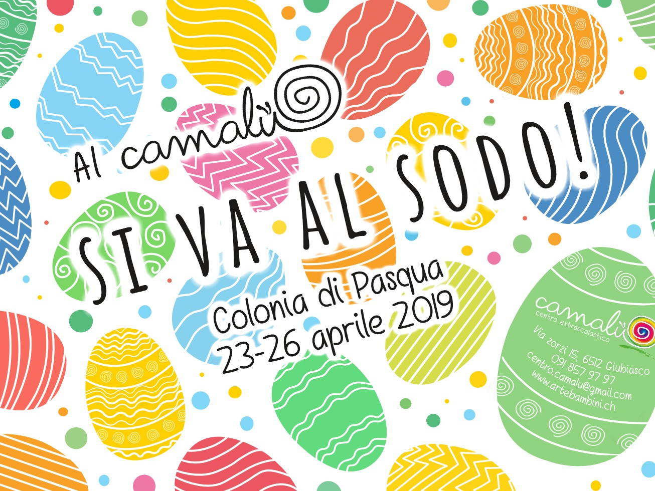 Easter Camp Flyer Centro Extrascolastico Camalù