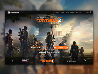 Ubisoft Homepage - Concept Redesign