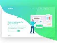 Statsoft Landing page | DailyUI#2