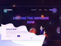 Explore - Space encyclopedia landing page design | DailyUI#4
