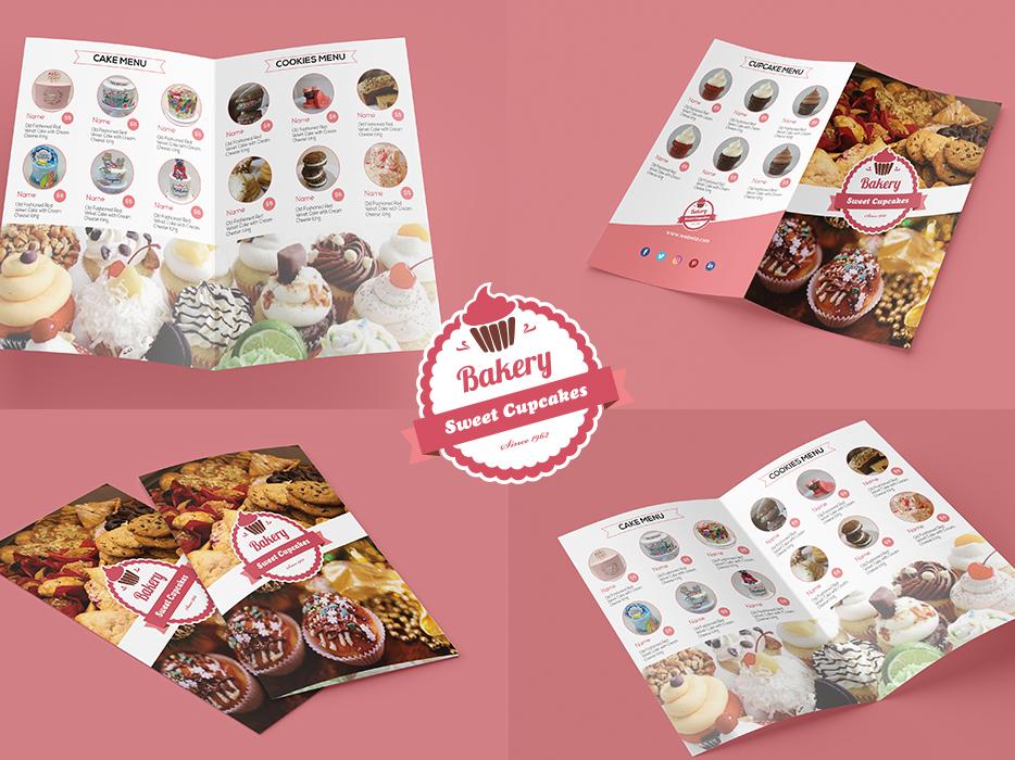 Bakery Cupcake Shop Menu Template By Shymaa Ahmad Dribbble