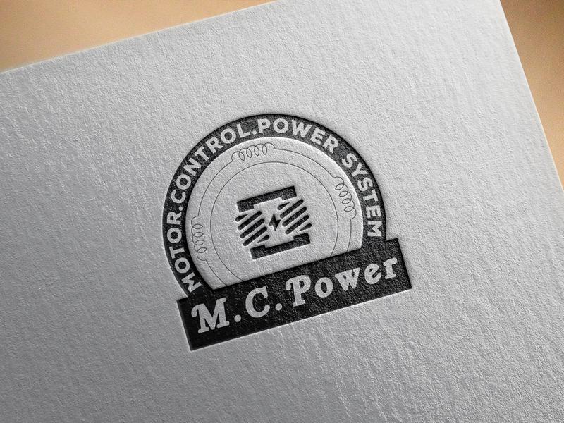 M.C.Power Logo logo mockup logo design logo m.c.power logo
