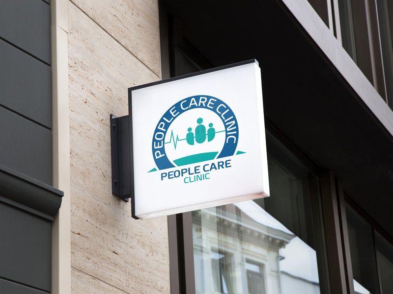 People Care Clinic logo medical logo medical design graphic  design logo mockup logo design logo people care clinic logo