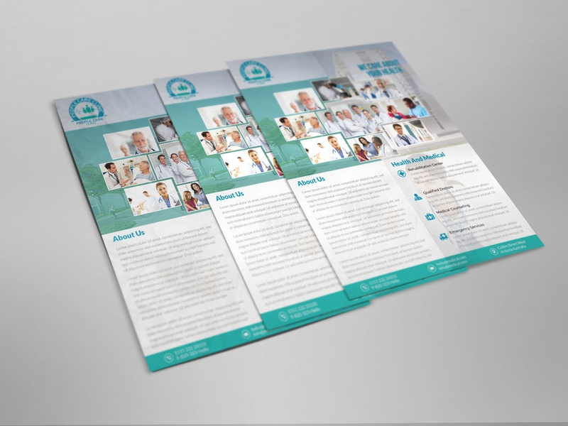 People Care Clinic Flyer-Medical Flyer flyer design flyer mockup flyer medical flyer people care clinic flyer