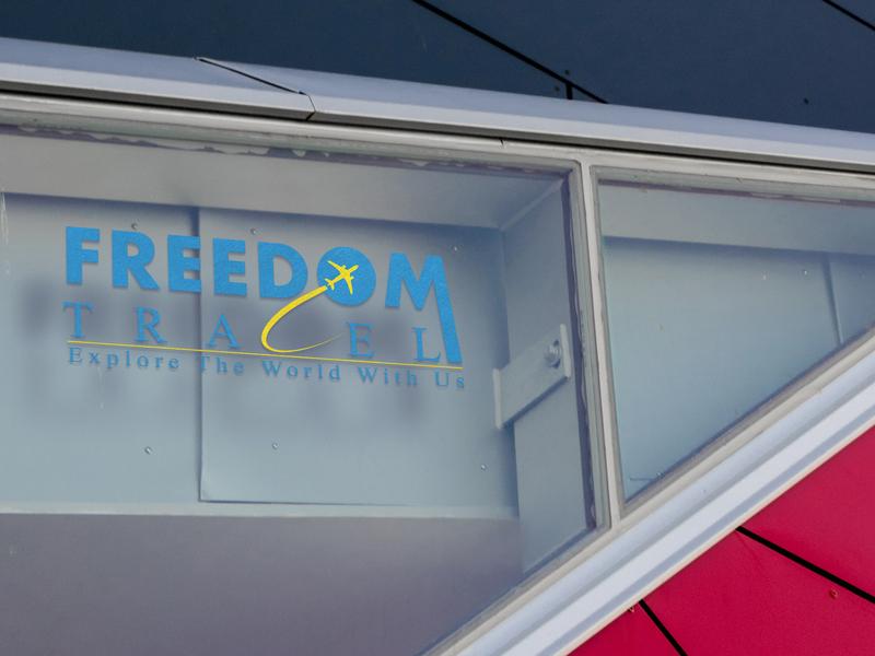 Freedom Travel logo logo mockup logo travel logo freedom travel logo