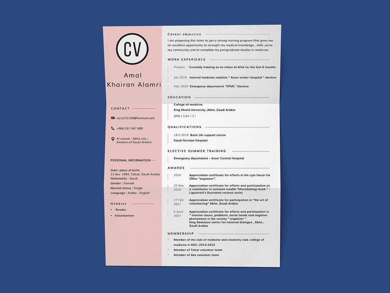 Resume/CV Design cv template resume cv resumecv design