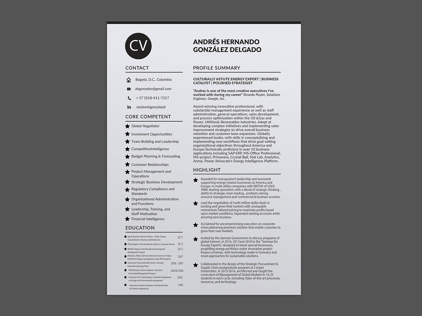 Resume/CV Design resume cv resumecv design