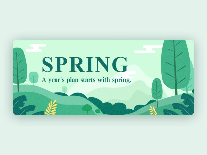 Spring Banner banner spring illustration design
