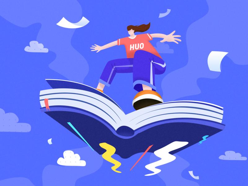 Fly illustration 插图 illustration design