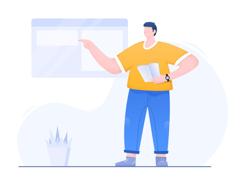 Teaching illustration 矢量 ui design 插图 illustration