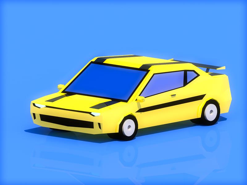 c4d car car banner cinema 4d 3d illustration 插图 design