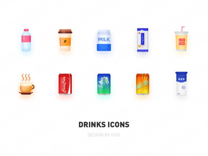 Drinks icons 1 设计 插图 logo icon 矢量 ui design illustration