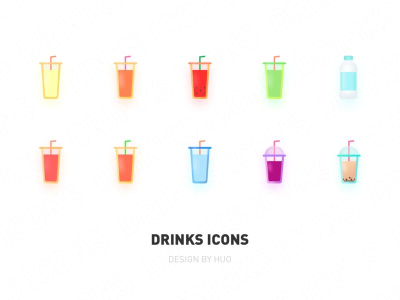 Drinks icons 2 logo 设计 icon 插图 illustration ui design