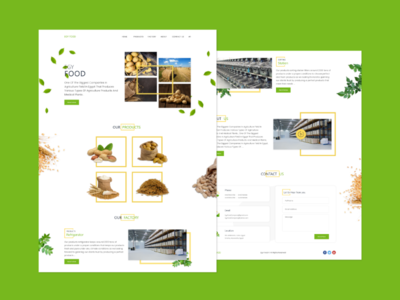 Egy Foods Home Page uiux webdesign userinterface