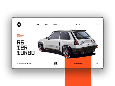 R5 Turbo T2R ux design ui design ux ui webdesign website turbo renault 5 renault