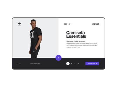 Adidas Essentials Website designer ux design ui design ux ui diseño web web design website adidas