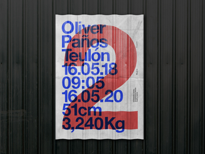 Oliver 2 Years graphic design design 2 oliver suizo helvetica poster