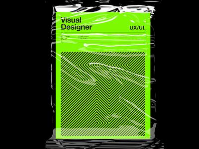 T 01. Visual Designer Poster. design a3 poster