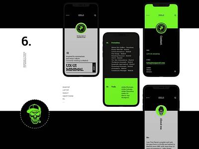 Personal Website illustrator. photoshop sketch adobe xd diseño web minimal skull app interfaces ui ux design website