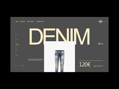 Denim. Website Concept. ui ux web design diseño web web