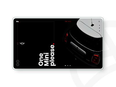 MINI COOPER - Concept Design car mini cooper bmw mini diseño web graphic design design web design web ux ui uidesign graphic website designer