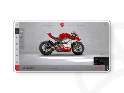 DUCATI PANIGALE V4 - Concept Design motorcycle v4 panigale ducati diseño web site graphic design design web design web ux uidesign ui graphic website designer