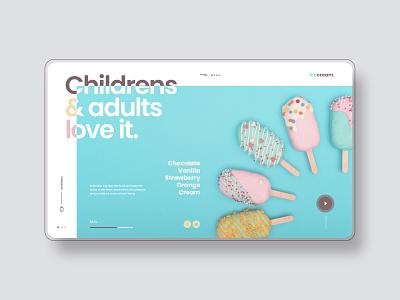 ICE CREAM - Concept Design landing page sitio web love design ice cream cream ice diseñador web site diseño web design web design web ui uidesign designer website