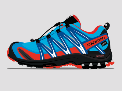 Salomon XA PRO 3D GTX illustrator adobe vector sneakers trainers graphic design graphic illustration ilustración