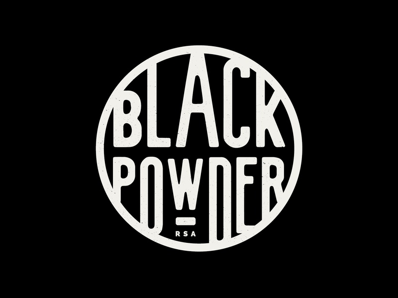 Black powder powder black design branding identity logo