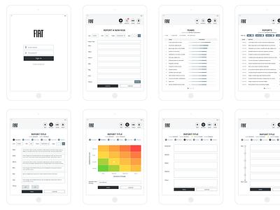 Wireframes user flow wireframes app tablet