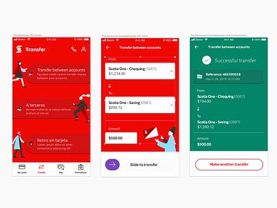 Bank transfer banking app mobile banking