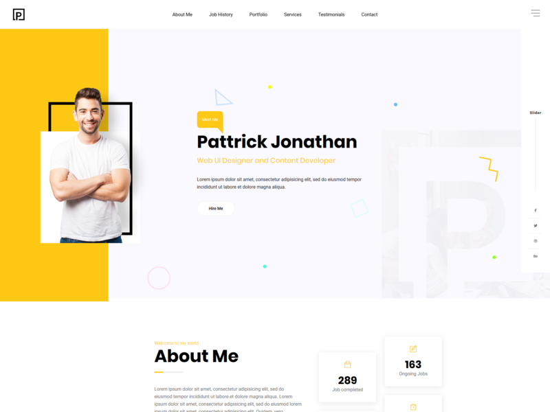 Pattric Personal Portfolio Html5bootstrap4 Template By Mahedi