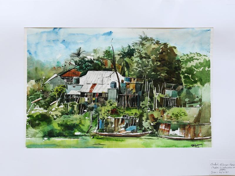 watercolour on paper illustration