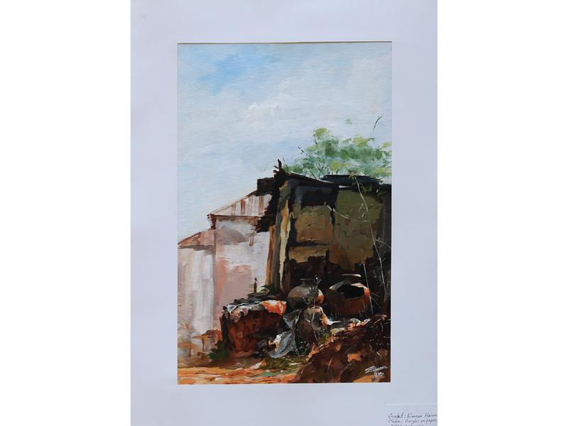 Acrylic On Canvas illustration