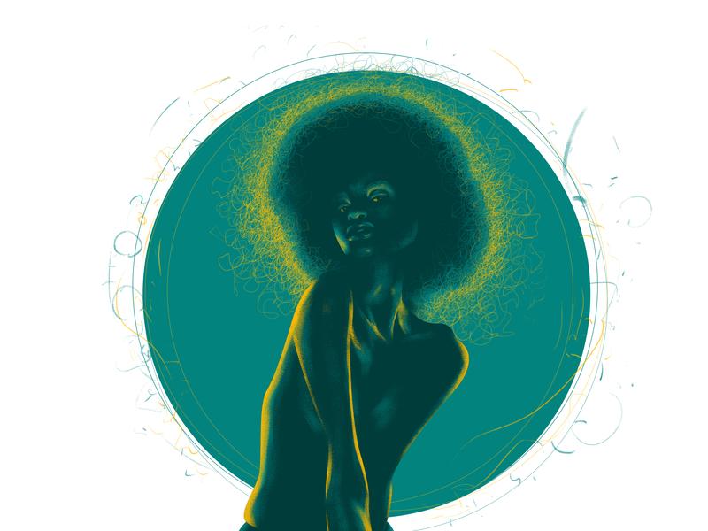 #The Girl minimal illustration