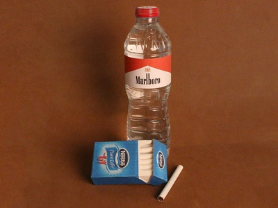 Nestle Cigarettes & Marlboro Water‬‏ icon marlboro nestle cigarettes water packagedesign inspiration design