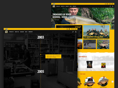 SBS Baits typography web website ecommerce motion ux ui design animation