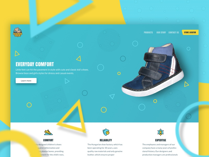 Szamos website web typography ux ui design