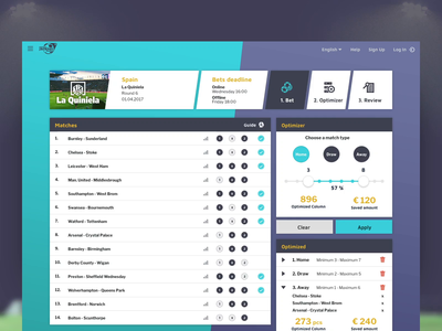 Football Jackpot football soccer webapp web website web design motion typography ux ui design animation