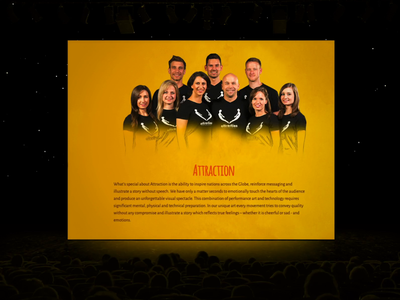Attraction interactive interaction web website motion typography ux ui design animation
