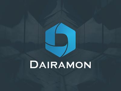 Dairamon Logo platform ecommerce cms app vector logo illustration branding typography design