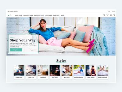 Repuloszonyeg - Homepage webpage interactive interaction ecommerce web motion ux animation website ui typography design