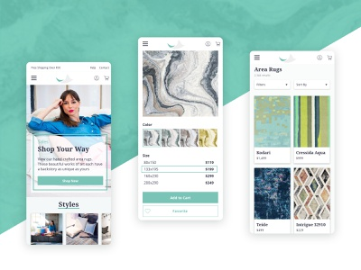 Mobile Pages mobile art direction interaction interactive ecommerce web ux website ui typography design