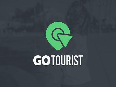 GoTourist Logo travel identity icon vector branding logo typography design