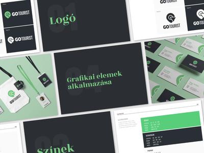 GoTourist Brand Guidelines travel app art direction brand guideline brand identity vector icon logo illustration typography design branding