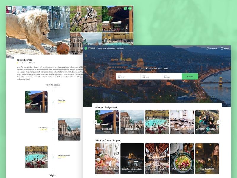 GoTourist Website travel site layout interactive art direction interaction branding web ux website ui typography design