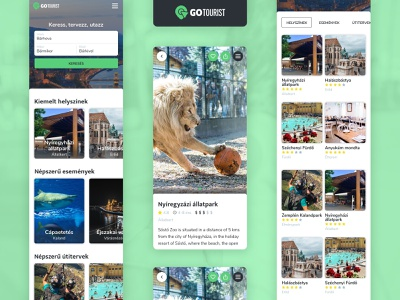 GoTourist Mobile Pages interactive art direction interaction web website ux ui typography design mobile apps mobile app mobile