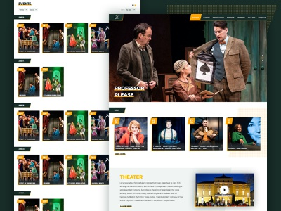 Moricz theater art direction interactive interaction web ux website ui typography design