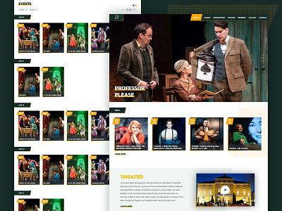 Moricz theater art direction interactive interaction web ux website ui typography design