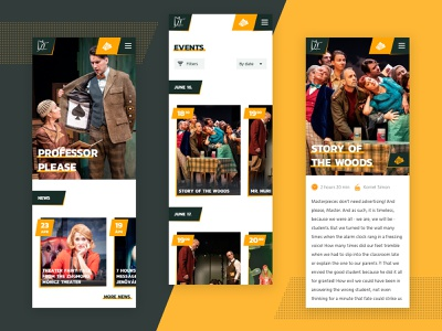 Mobile Pages interactive mobile art direction web ux website ui typography design